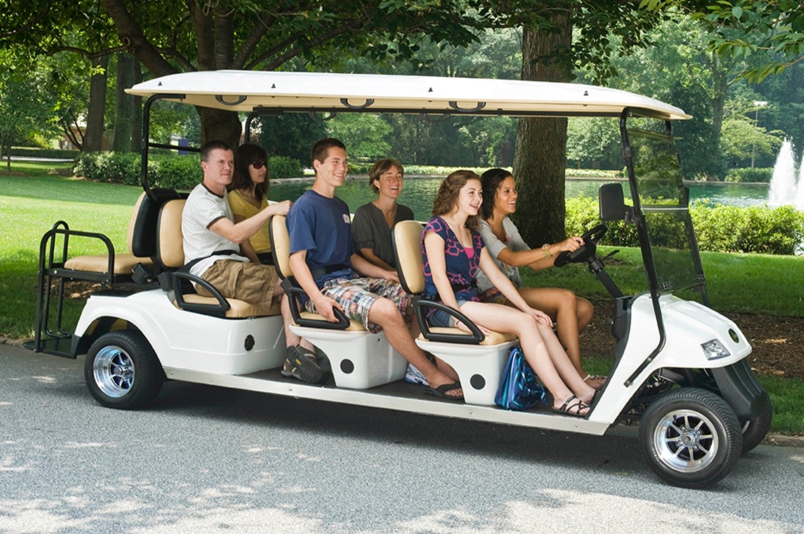 passenger golf cart rental